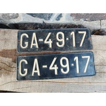 Zabytkowe tablice rejestracyjne
