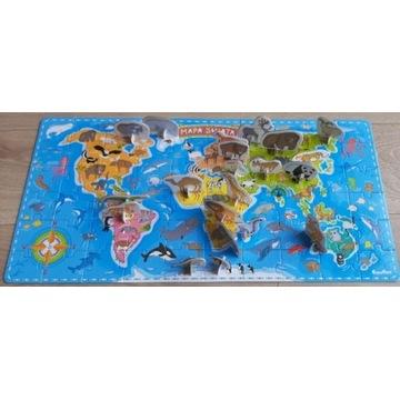 Mapa Świata CzuCzu Puzzle z figurkami