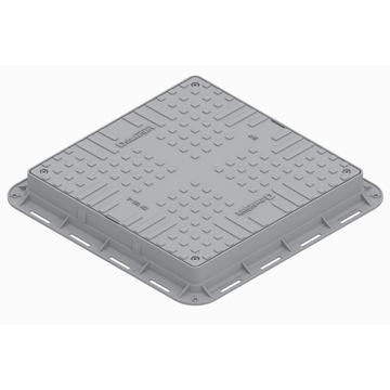 Właz kwadratowy - lekki, plastikowy - szary kl.A15