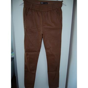 Damskie brązowe Spodnie ala legginsy rozmiar 38
