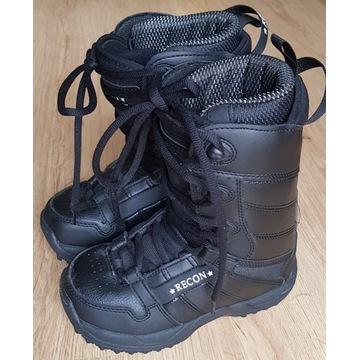 buty snowboardowe RECON dziecięce 32 s. bdb