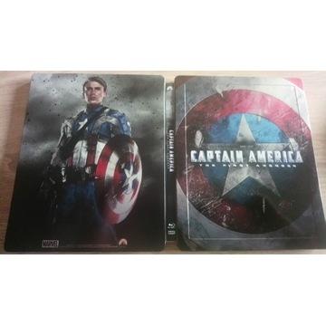 Kapitan Ameryka Starcie 2D/3D Steelbook Blu Pl