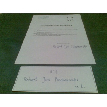 Autograf RJB nr.1