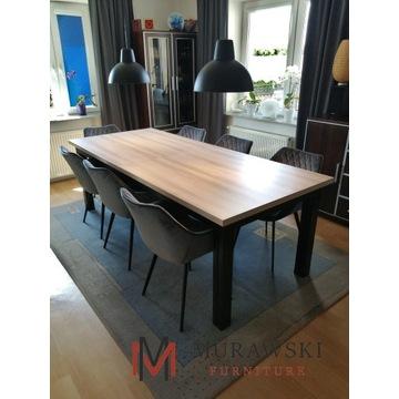 Duży stół rozkładany 4,40 m w stylu industrialnym