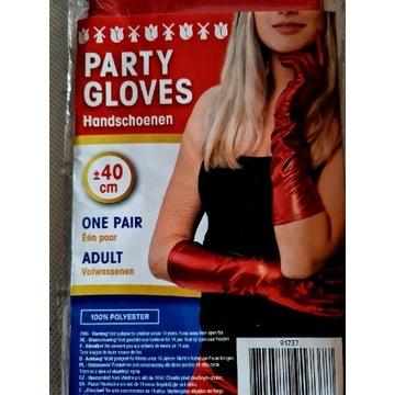 Rękawiczki i spodnie  czerwone