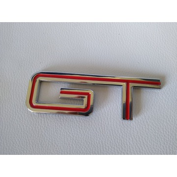 Emblemat FORD MUSTANG GT Czerwony Metalowy