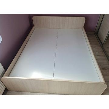 Łóżko z szafkami nocnymi