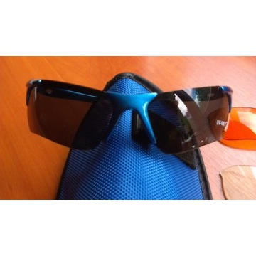 Okulary sportowe przeciwsłoneczne wymienne szkła+