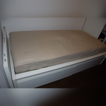Łóżko IKEA materac bardzo miękki