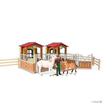 Schleich 72116 Zestaw boksów dla koni