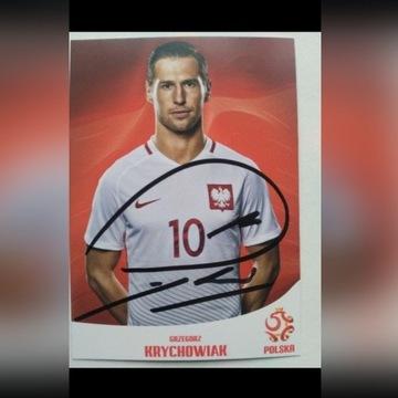Autograf Grzegorza Krychowiak.