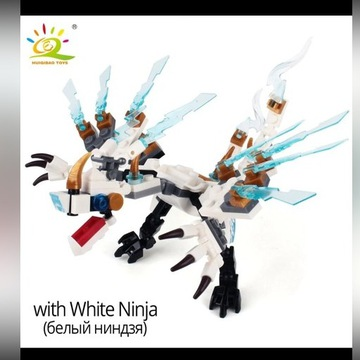 Smok ze świata Lego Ninjago + Ninja Zane