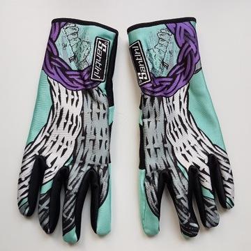 Santini rękawiczki rowerowe retro nowe L