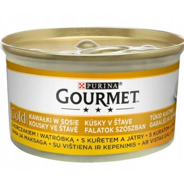 Gourmet  Gold 85g kurczak z watrobka dla kota
