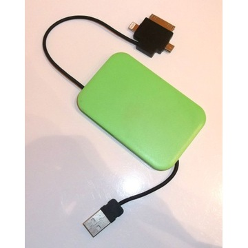 ŁADOWARKA USB kieszonkowa 3 wejścia microUSB APPLE