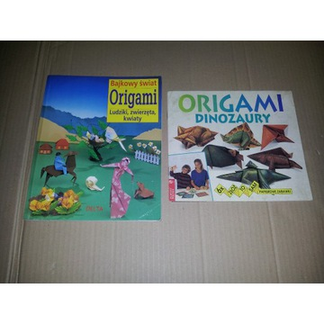 2 książki ORIGAMI - Bajkowy Świat, Dinozaury