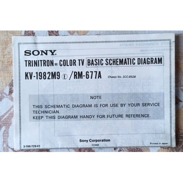 Instrukcja serw. + schematy Sony KV-1982M9/RM-677A