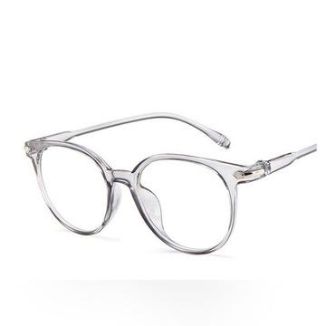 Okulary zerówki nerdy transparentne antyrefleks