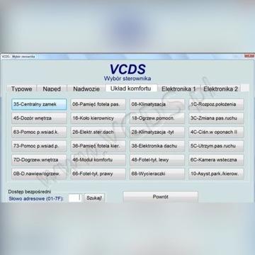 Zeszyt kodowań i Adaptacji VCDS