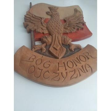 Rzeźba w drewnie Bóg Honor Ojczyzna