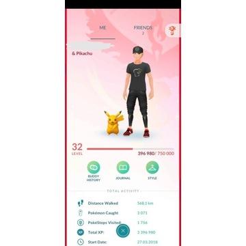 Konto Pokemon GO32lvl+SHINY PIKACHU,SHINY SQUIRTLE