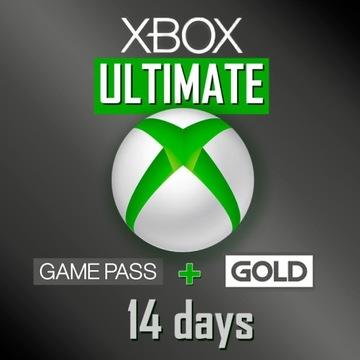 XBOX 14 DNI XBOX LIVE GOLD ULTIMATE GAME PASS KOD