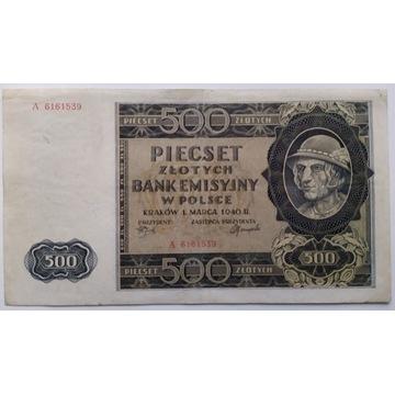 500 złotych 1940  A