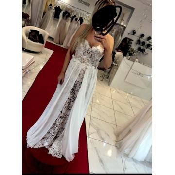 Przepiękna suknia slubna syrenka/ literka A