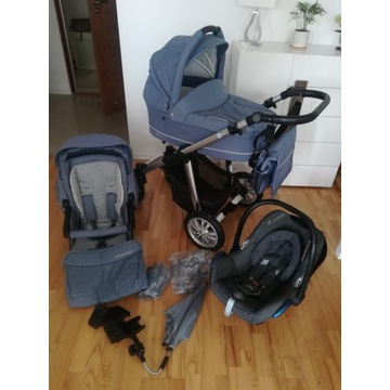 Wózek baby design lupo 2w1 + fotelik maxi cossi
