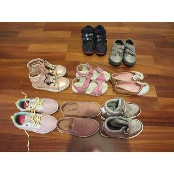 zestaw bucików dla dziewczynki 26-27