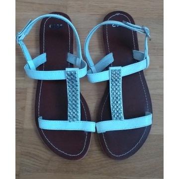 ASOS nowe skórzane sandały 39 białe