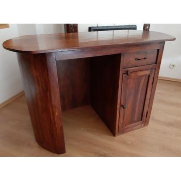 owalne biurko kolonialne indyjskie AlmiDecor