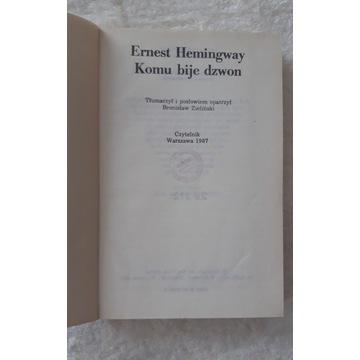Książka - Kiedy bije dzwon