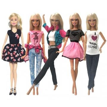Ubranka dla Barbie 5 kompletów wysoka jakość