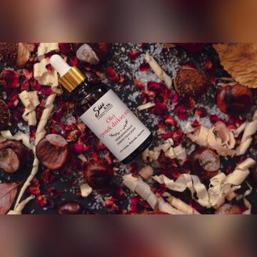 Olej z pestek dzikiej róży 100% naturalny