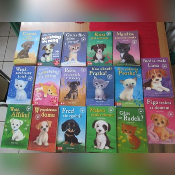 17 książeczek o zwierzątkach 5 zł szt