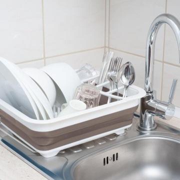 Składana suszarka na naczynia