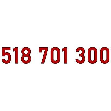 518 701 300 ZŁOTY NUMER ORANGE