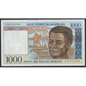 Madagaskar 1000 franków 1994 - stan bankowy UNC