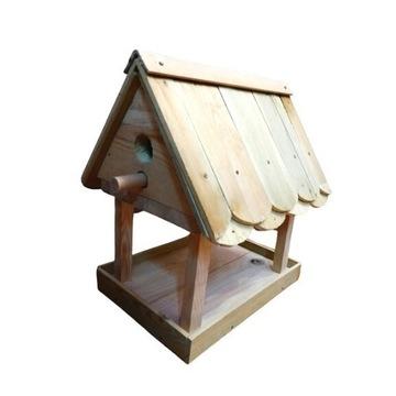 Duży karmnik drewniany, karmnik dla ptaków