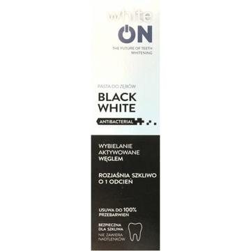 WHITEON pasta do zębów black white 75 ml -50%