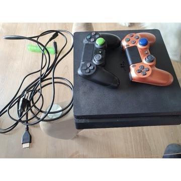 Play Station 4 slim 500 gb + kable + 2 pady