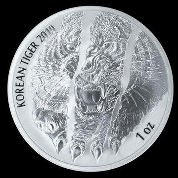 Koreański tygrys 1 uncja srebra 2019rok