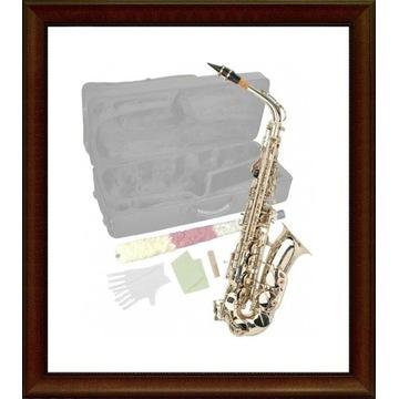 NOWY Saksofon altowy STEINBACH posrebrzany M026