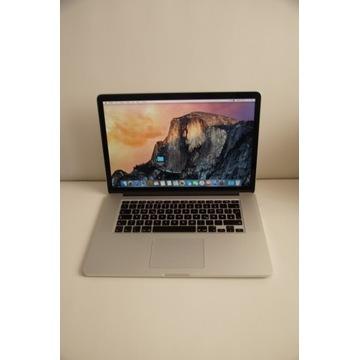 """MacBook Pro 15"""" Retina i7 2,5Ghz 13 cykli"""
