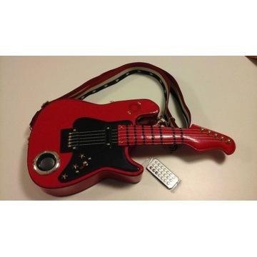 Torebka w kształcie gitary - usb, głośnik, pilot