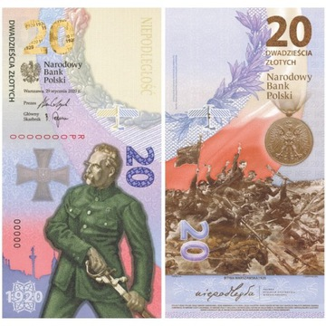Banknot- 20 zł- Bitwa Warszawska 1920 rok
