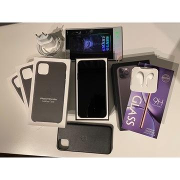 iPhone 11 Pro Max Gwar. Bat.100% Ubezp. Dodatki