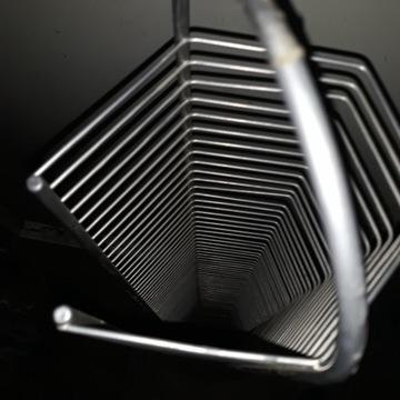 Stojak na płyty cd drewno metal 115 cm