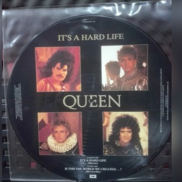 """Queen It's a hard life picture disc 12"""" winyl"""